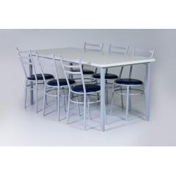 Mesa para refeitório e cadeiras