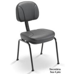Cadeira Secretária 4 pés Operativa Estofada